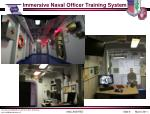 immersive naval officer training system