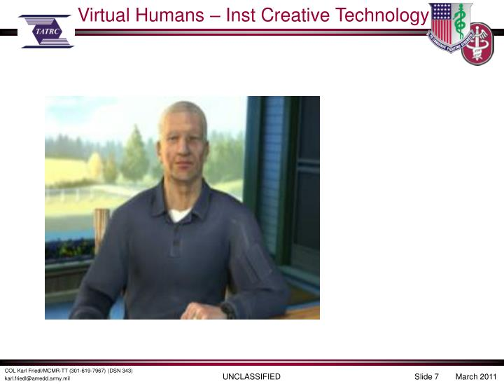 Virtual Humans – Inst Creative Technology