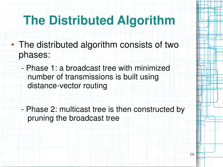 The Distributed Algorithm