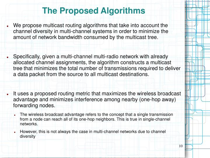 The Proposed Algorithms