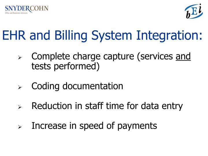 EHR and Billing System Integration: