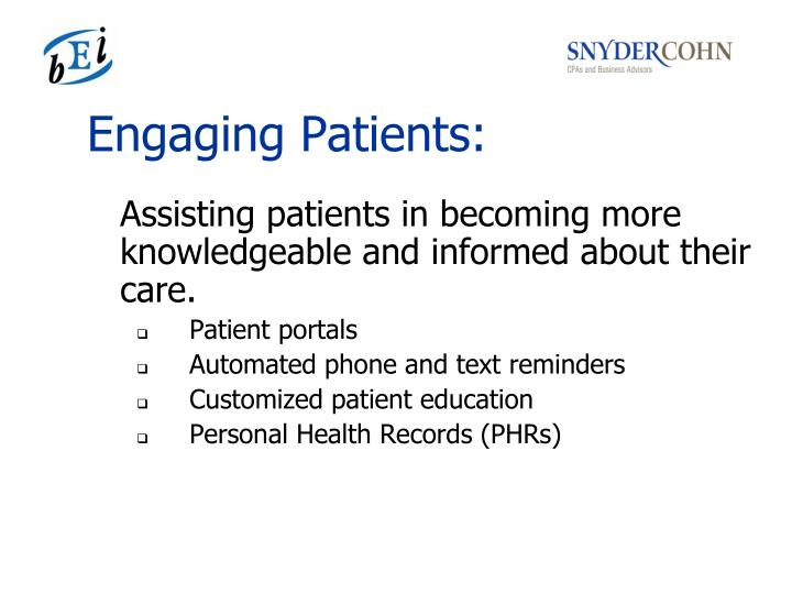 Engaging Patients: