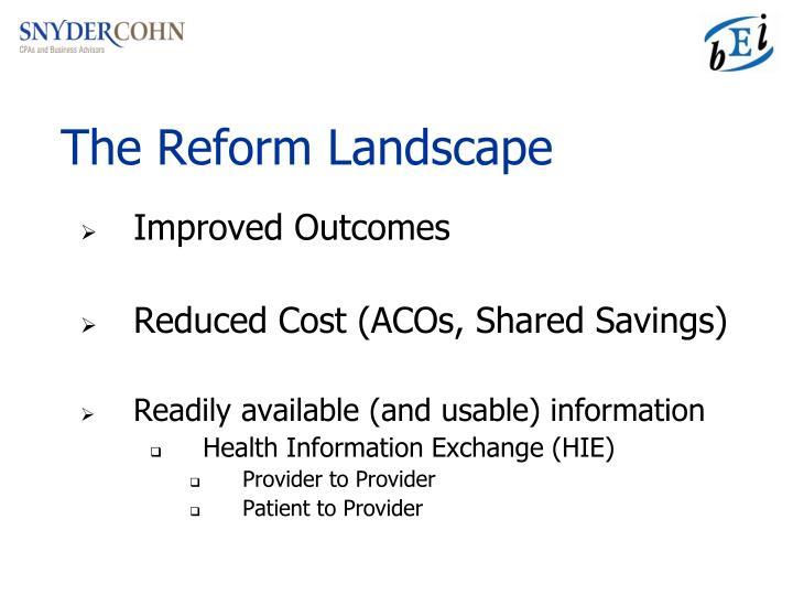 The Reform Landscape