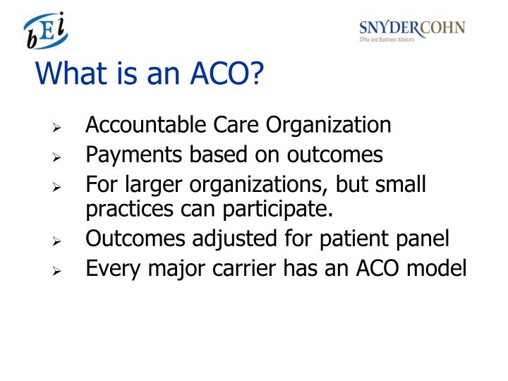 What is an ACO?