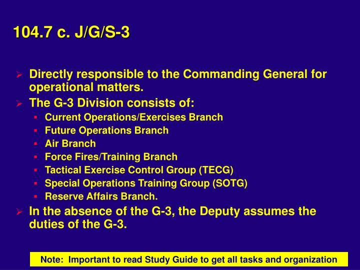 104.7 c. J/G/S-3