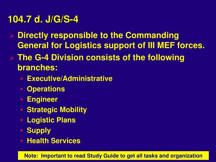 104.7 d. J/G/S-4