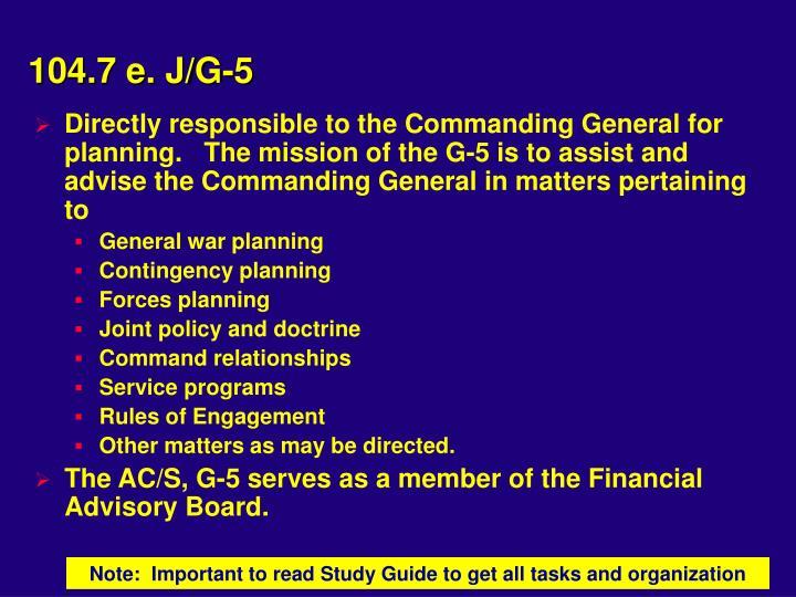 104.7 e. J/G-5
