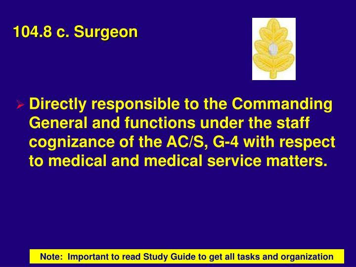 104.8 c. Surgeon