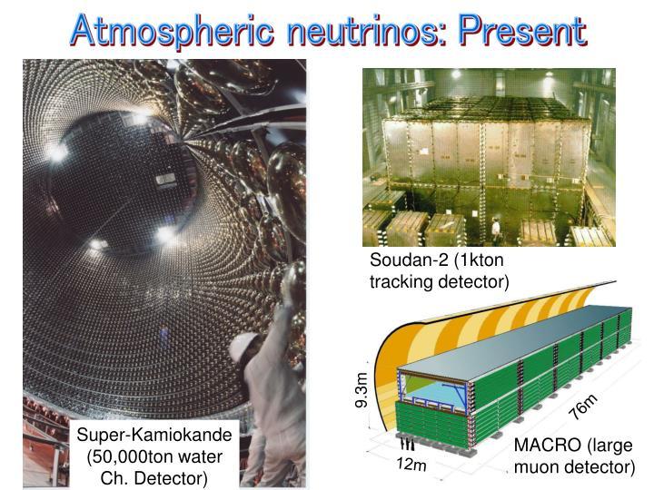 Atmospheric neutrinos: Present