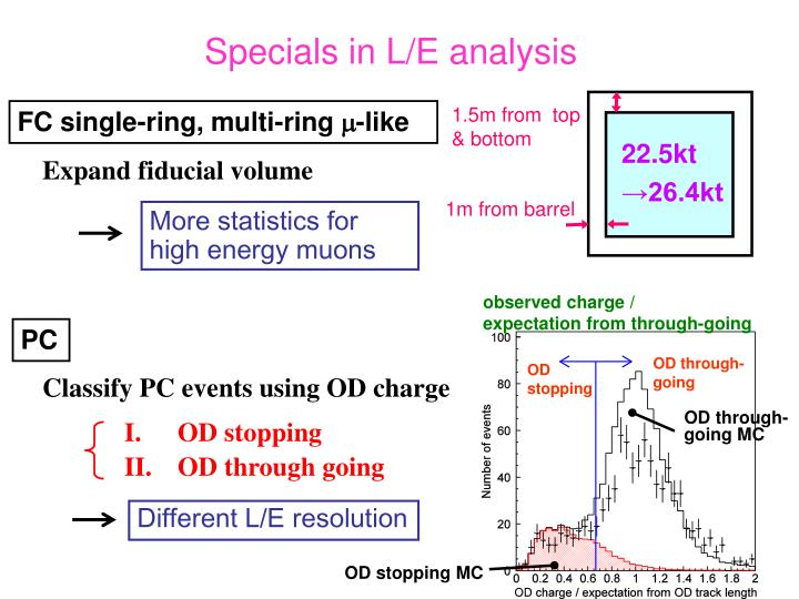 Specials in L/E analysis