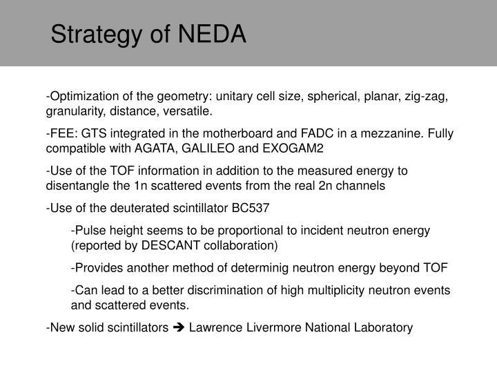 Strategy of NEDA