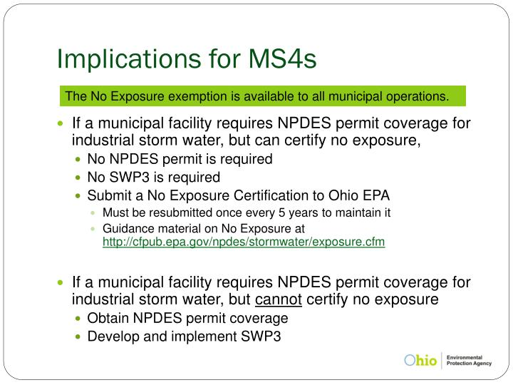 Implications for MS4s