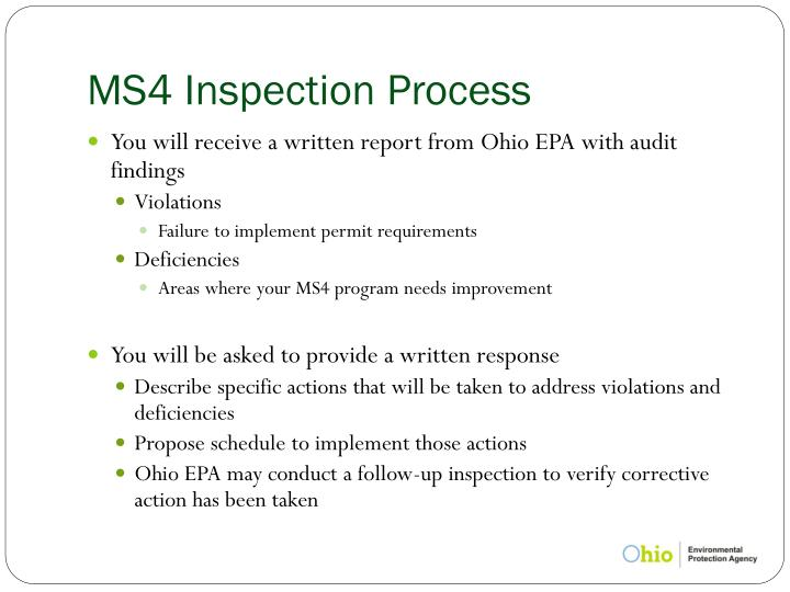 MS4 Inspection Process
