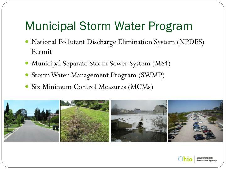 Municipal Storm Water Program