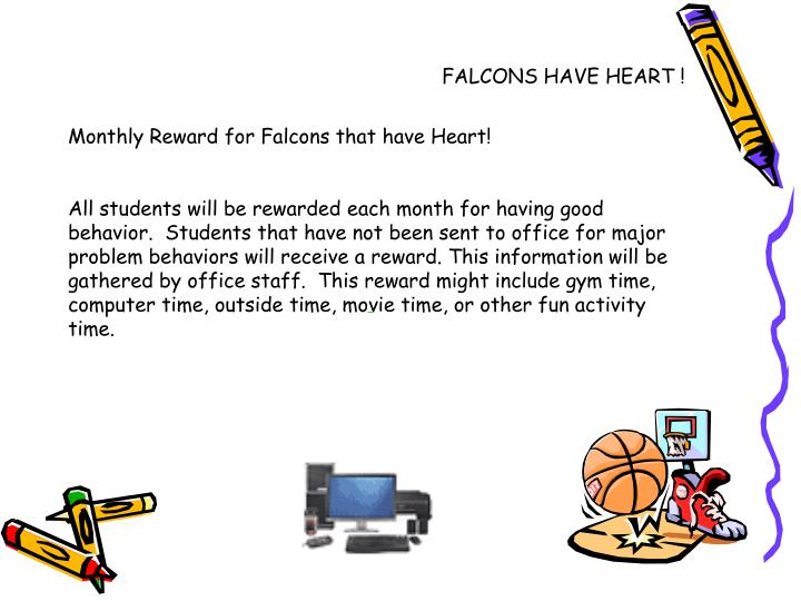 FALCONS HAVE HEART !