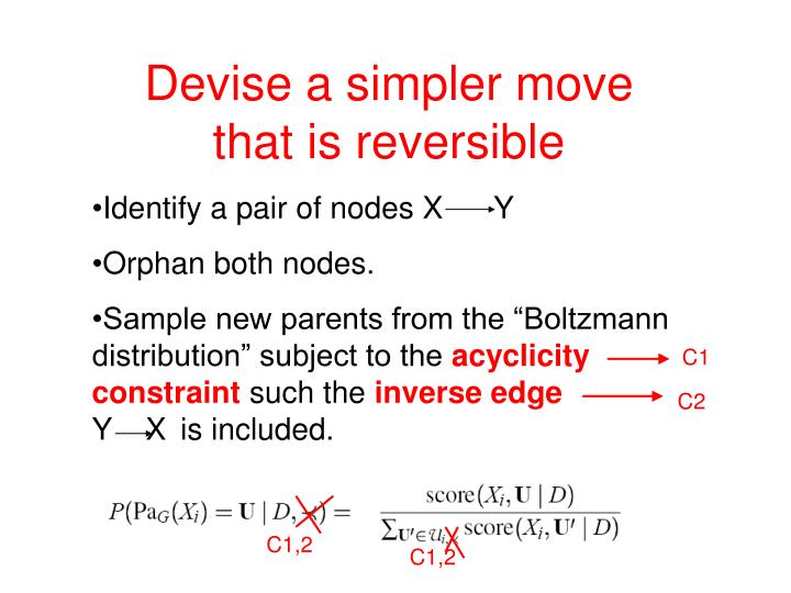Devise a simpler move        that is reversible