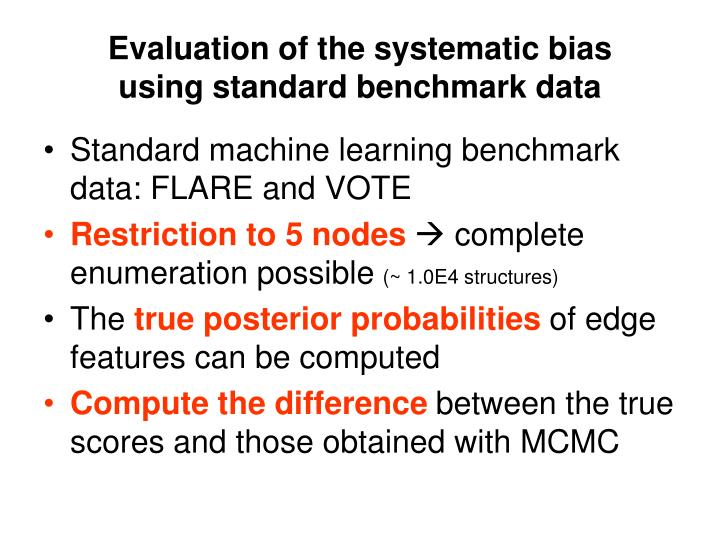 Evaluation of the systematic bias