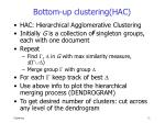 bottom up clustering hac