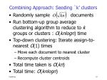 combining approach seeding k clusters