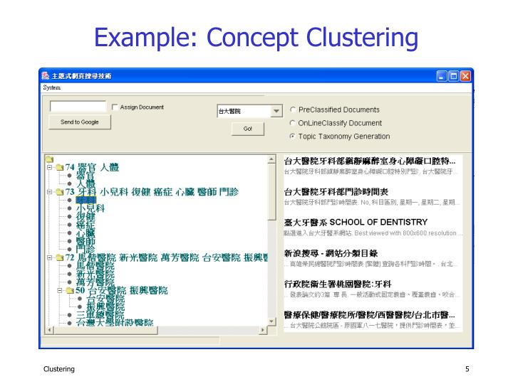 Example: Concept Clustering
