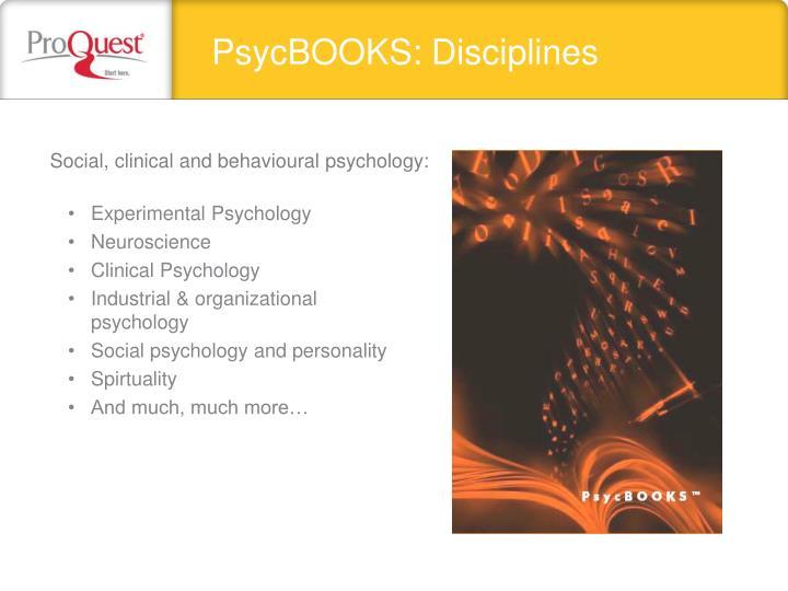 PsycBOOKS: Disciplines