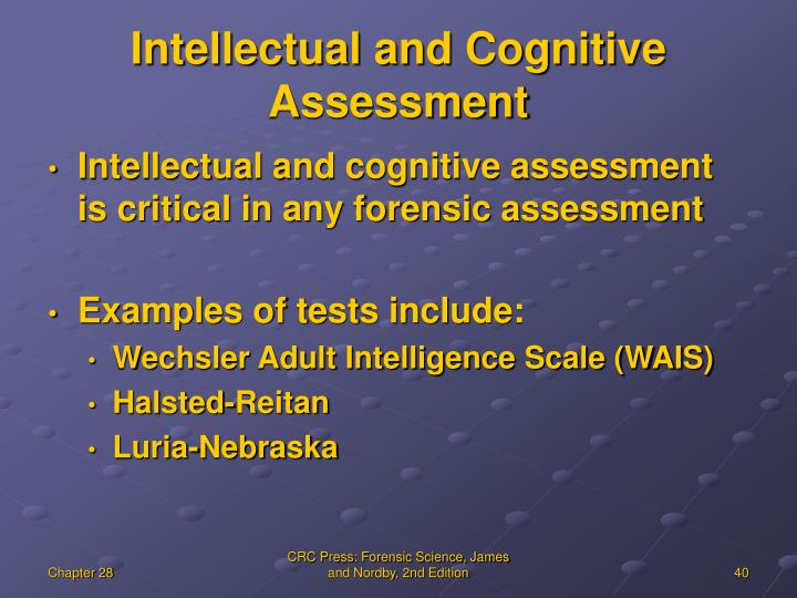 Intellectual and Cognitive Assessment