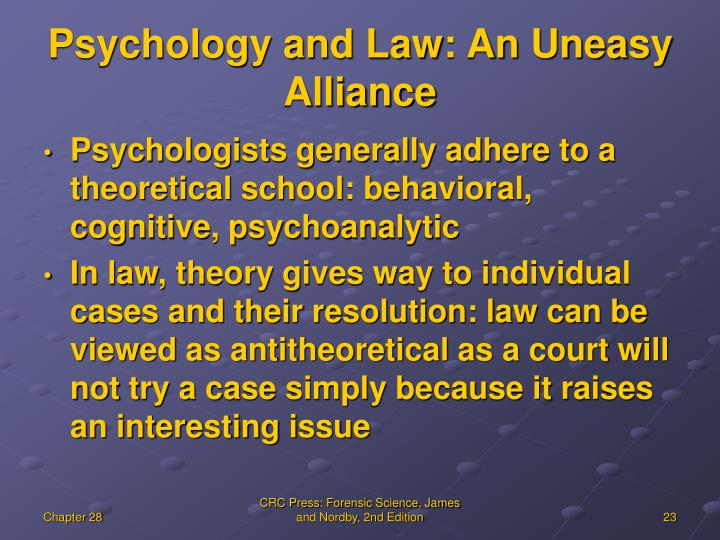 Psychology and Law: An Uneasy Alliance