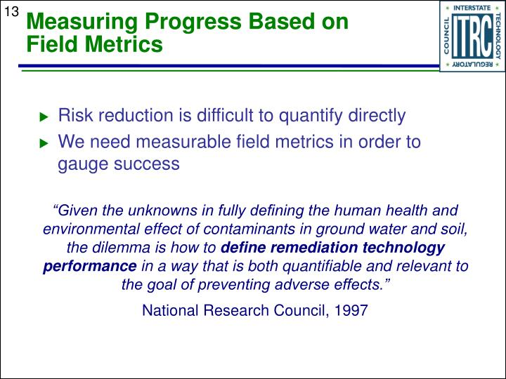 Measuring Progress Based on