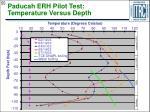 paducah erh pilot test temperature versus depth