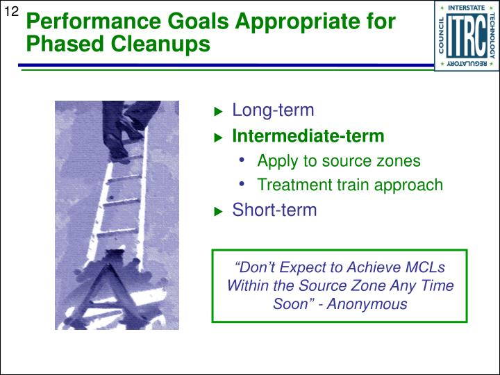 Performance Goals Appropriate for Phased Cleanups