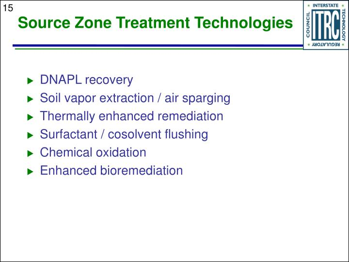 Source Zone Treatment Technologies