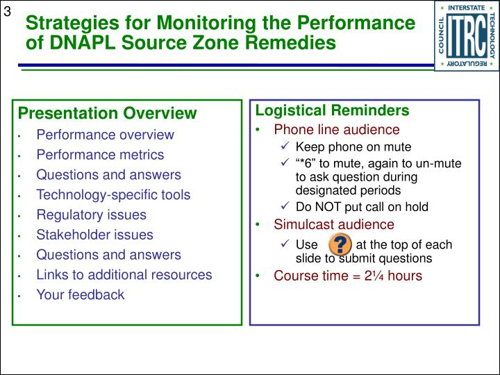 Strategies for monitoring the performance of dnapl source zone remedies