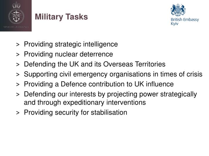 Military Tasks