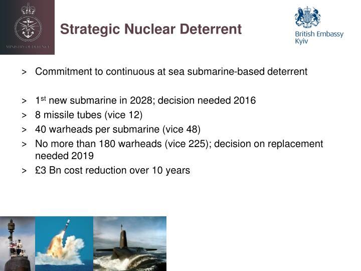 Strategic Nuclear Deterrent