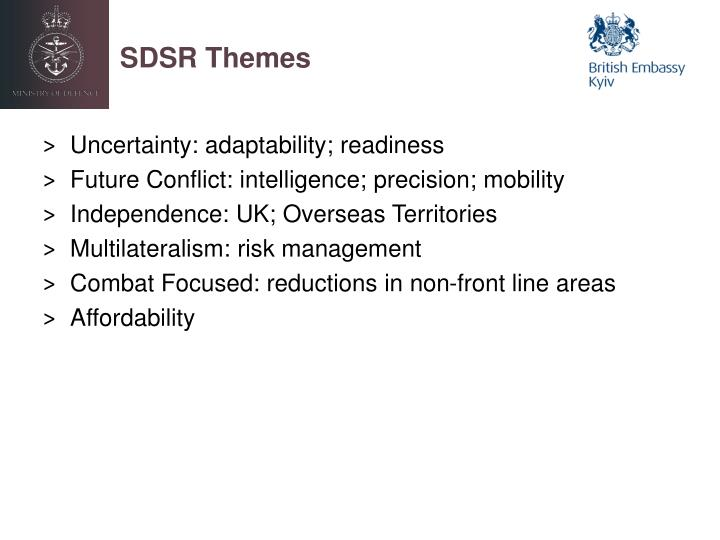 SDSR Themes