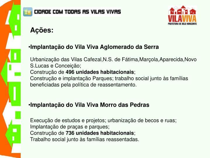 Implantação do Vila Viva Aglomerado da Serra