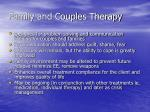 family and couples therapy