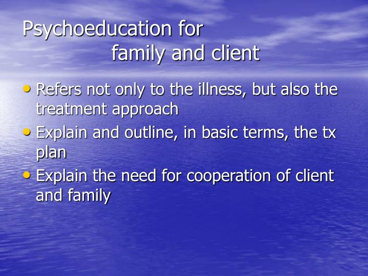 Psychoeducation for