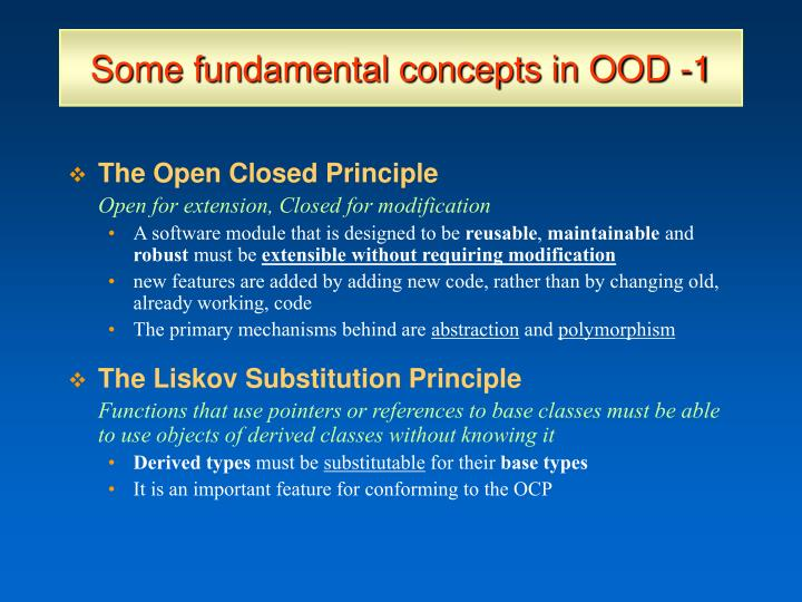 Some fundamental concepts in OOD -1