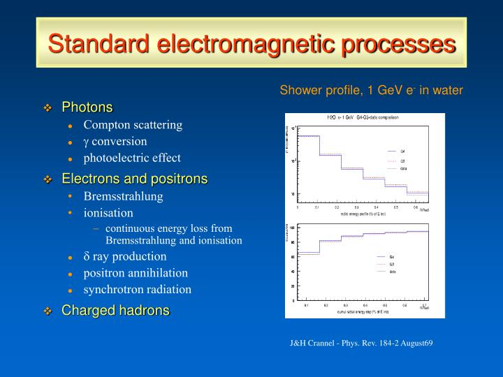 Standard electromagnetic processes