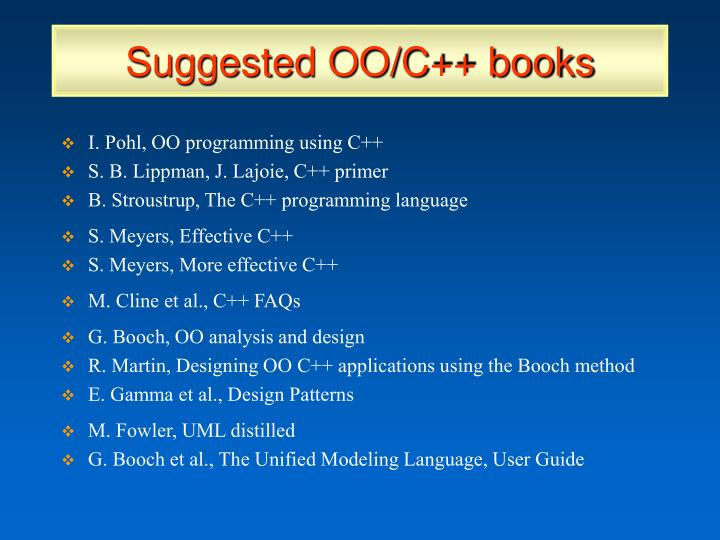 Suggested OO/C++ books