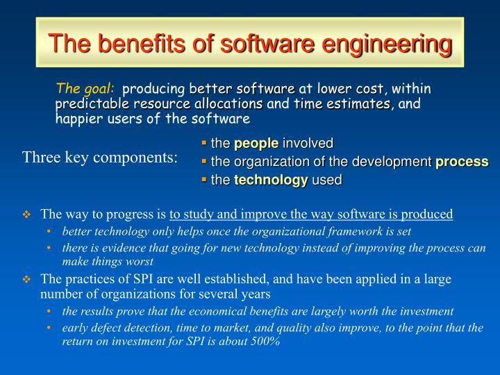 The benefits of software engineering