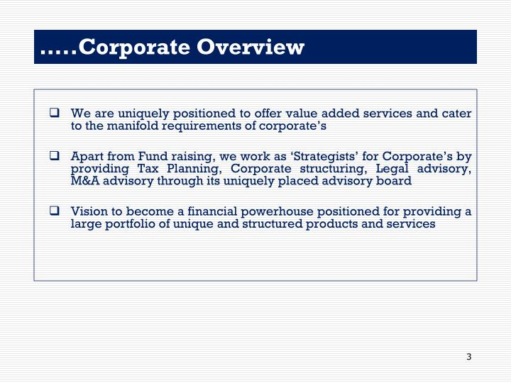 Corporate overview1