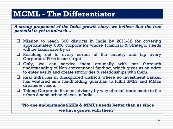 MCML - The Differentiator