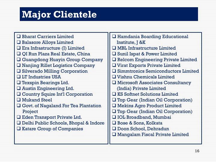 Major Clientele