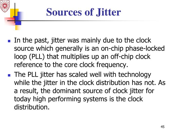 Sources of Jitter