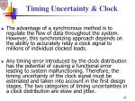 timing uncertainty clock