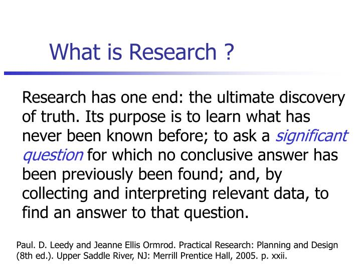 What is Research ?