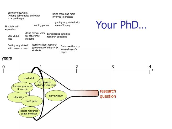 Your PhD…