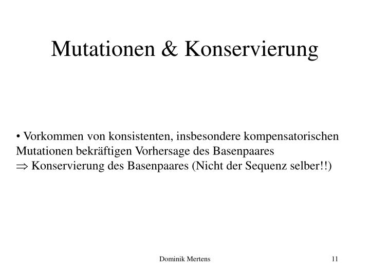 Mutationen & Konservierung